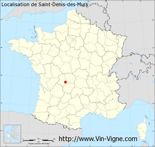 Carte de Saint-Denis-des-Murs