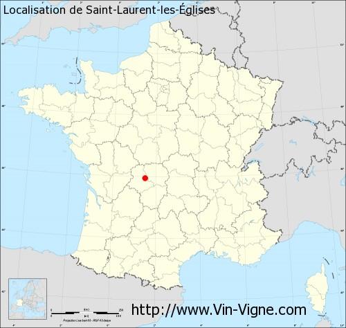 Carte de Saint-Laurent-les-Églises
