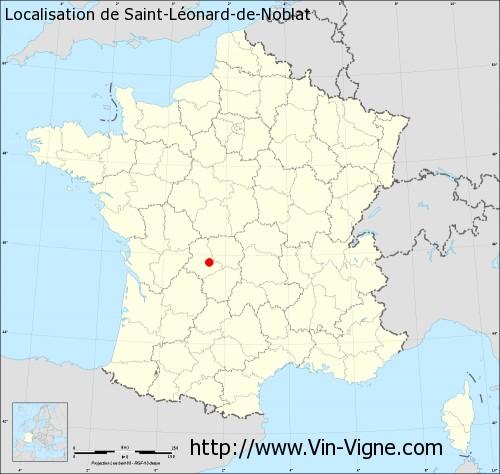 Carte de Saint-Léonard-de-Noblat