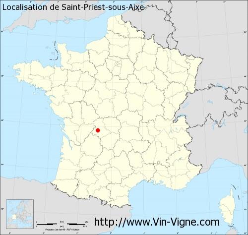 Carte de Saint-Priest-sous-Aixe