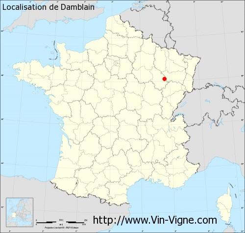 Carte de Damblain