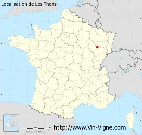 Carte de Les Thons