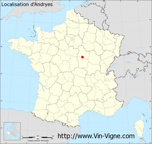 Carte d'Andryes