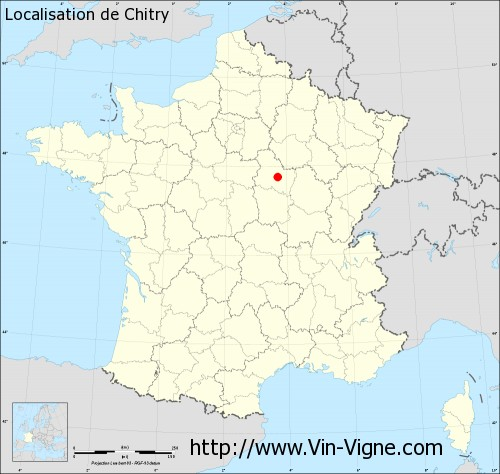 Carte  de Chitry