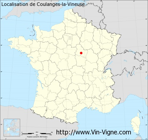 Carte  de Coulanges-la-Vineuse