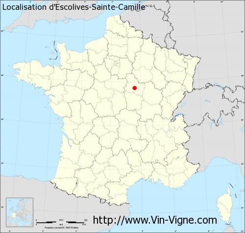 Carte d'Escolives-Sainte-Camille