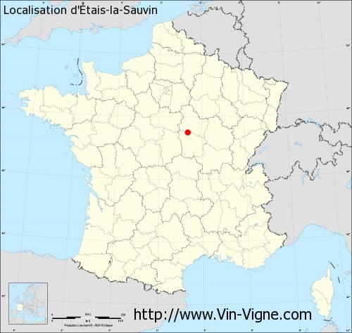 Carte d'Etais-la-Sauvin