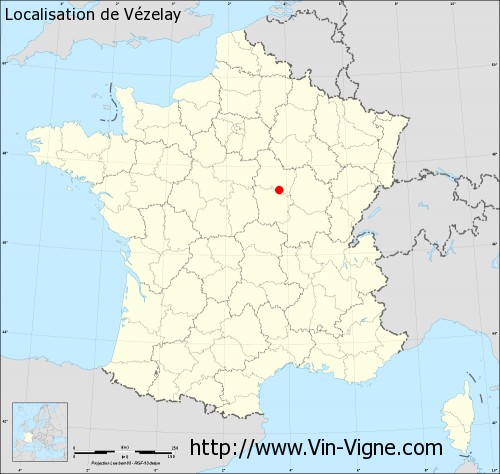 Carte de Vézelay