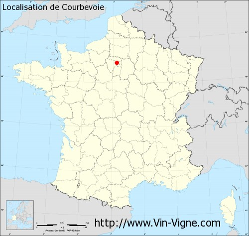 courbevoie sur la carte de france