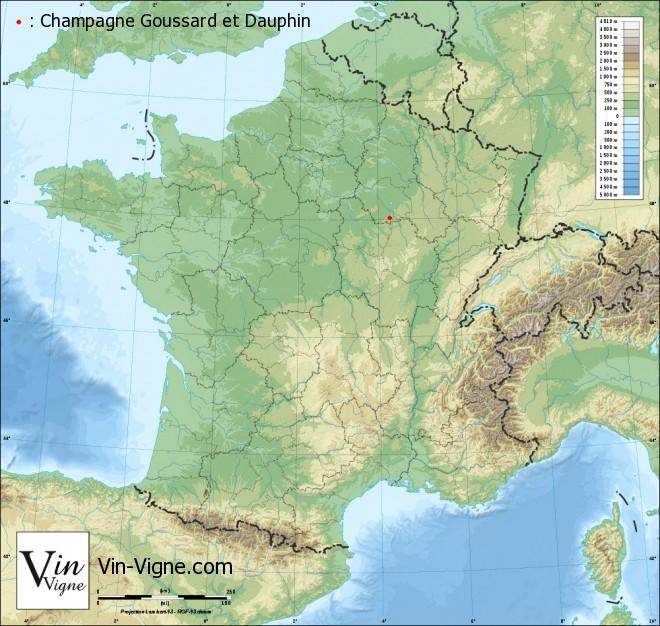 carte Champagne Goussard et Dauphin