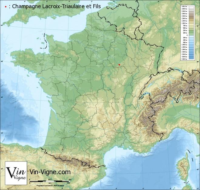carte Champagne Lacroix-Triaulaire et Fils