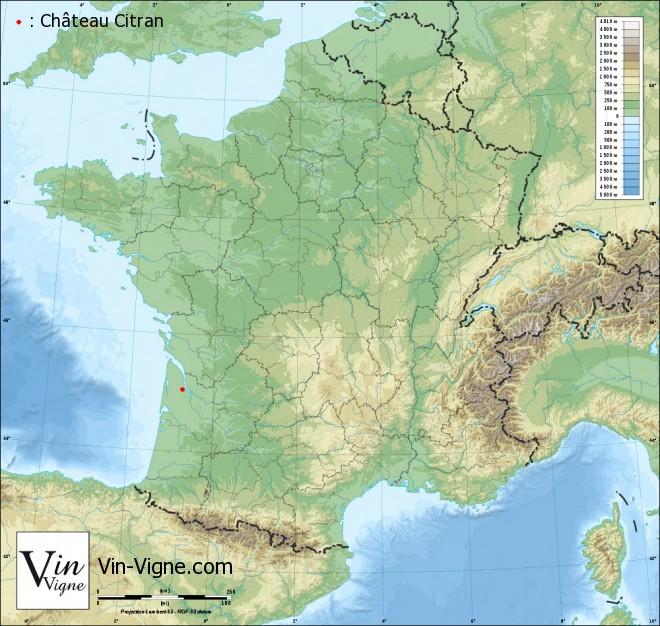 carte Château Citran
