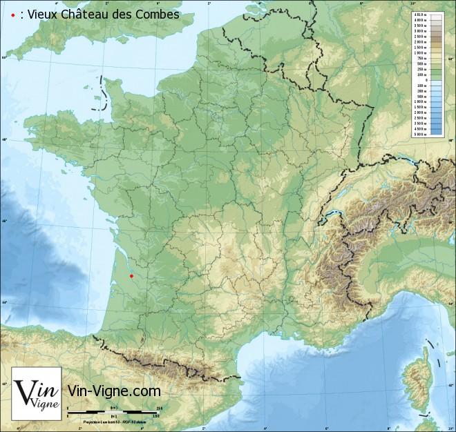 carte Vieux Château des Combes