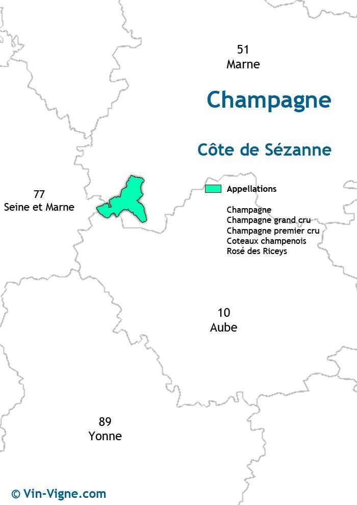 carte des vins de la côte de sézanne