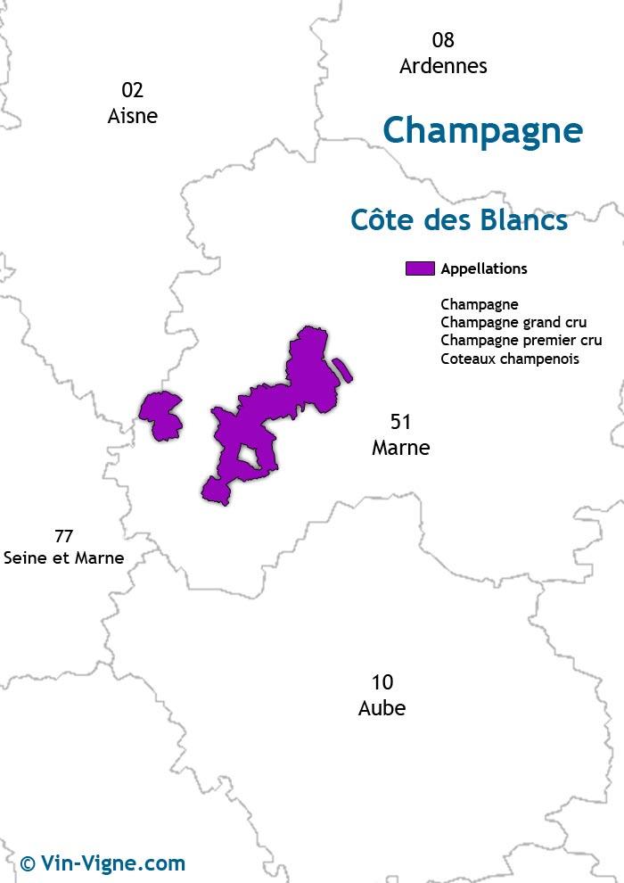 carte des vins de la côte des blancs