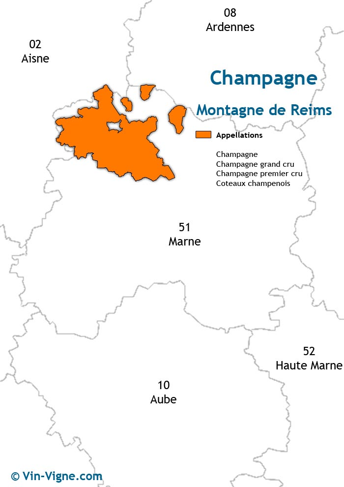 carte des vins de la montagne de reims