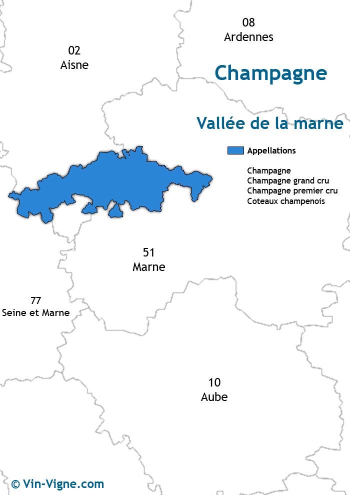 carte des vins de la vallée de la marne