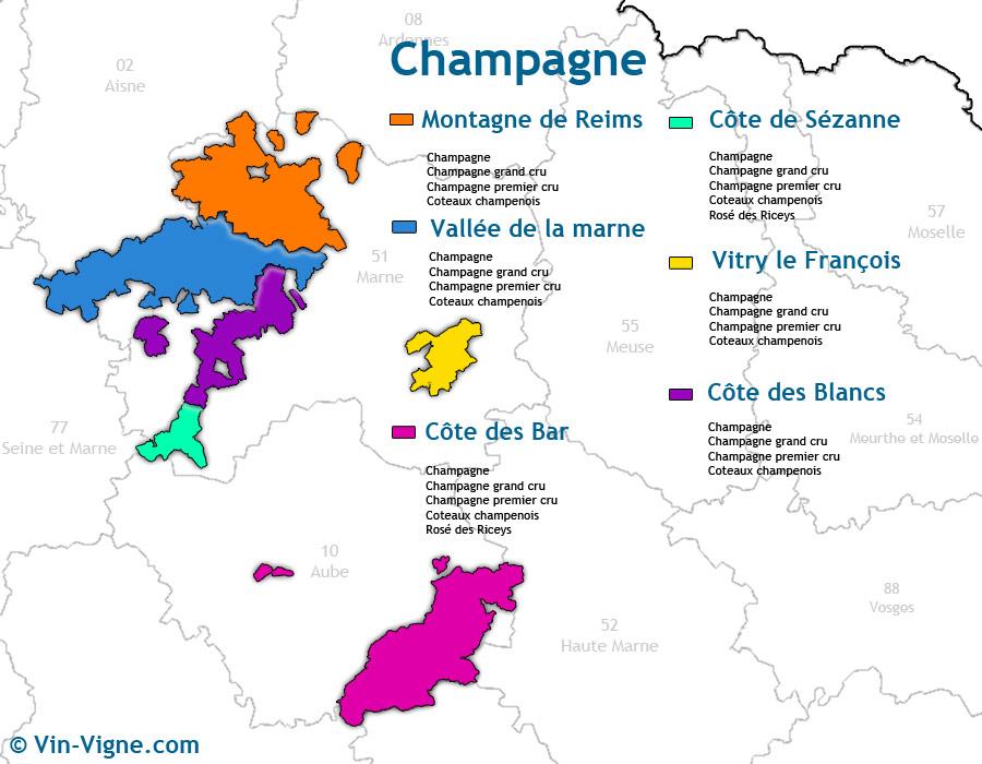 carte des vins Champagne