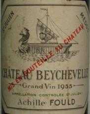 Etiquette du Château Beychevelle 1955