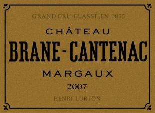 Étiquette du Château Brane-Cantenac 1973