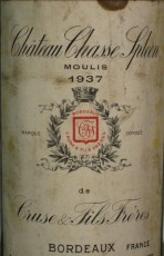 Bouteille du Château Chasse-Spleen 1937