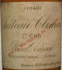 Etiquette du château Climens 1949