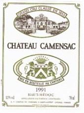Etiquette du Château Camensac 1991