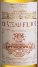 Bouteille de Château Filhot 2008