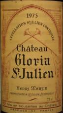Etiquette du Château Gloria 1975