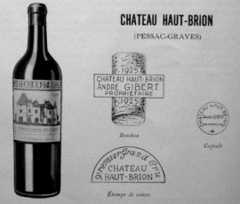 Logo et présentation du Château Haut-Brion 1931