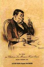 Le buveur d'Honoré Daumier 1864