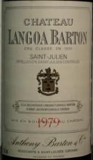 Étiquette de Château Langoa Barton 1979