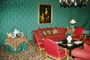 Vue du salon à l'intérieur du Château Pape-Clément