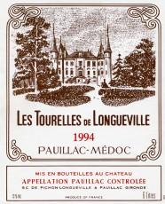Étiquette des Tourelles de Longueville 1994
