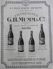 English: Mumm advertisement of 1923 Français: Réclame pour le champagne Mumm en 1923