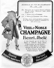 English: Henri Abelé advertisement of 1923 Français : Réclame pour le champagne Henri Abelé en 1923