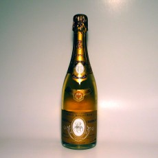 A bottle of Louis Roederer Cristal Champagne (1993).