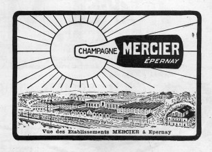 English: Mercier advertisement of 1923 Français : Réclame pour le champagne Mercier en 1923