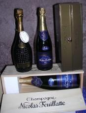 Quelques bouteilles du Champagne Nicolas Feuillatte: Cuvée