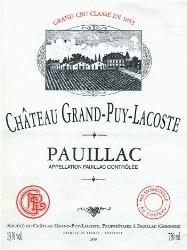 Etiquette du Château Grand-Puy-Lacoste