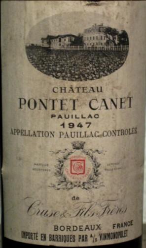 Château Pontet-Canet 1947