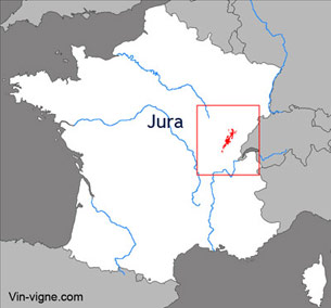 Carte viticole du vignoble du Jura