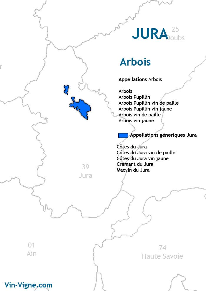 carte des vins d'arbois