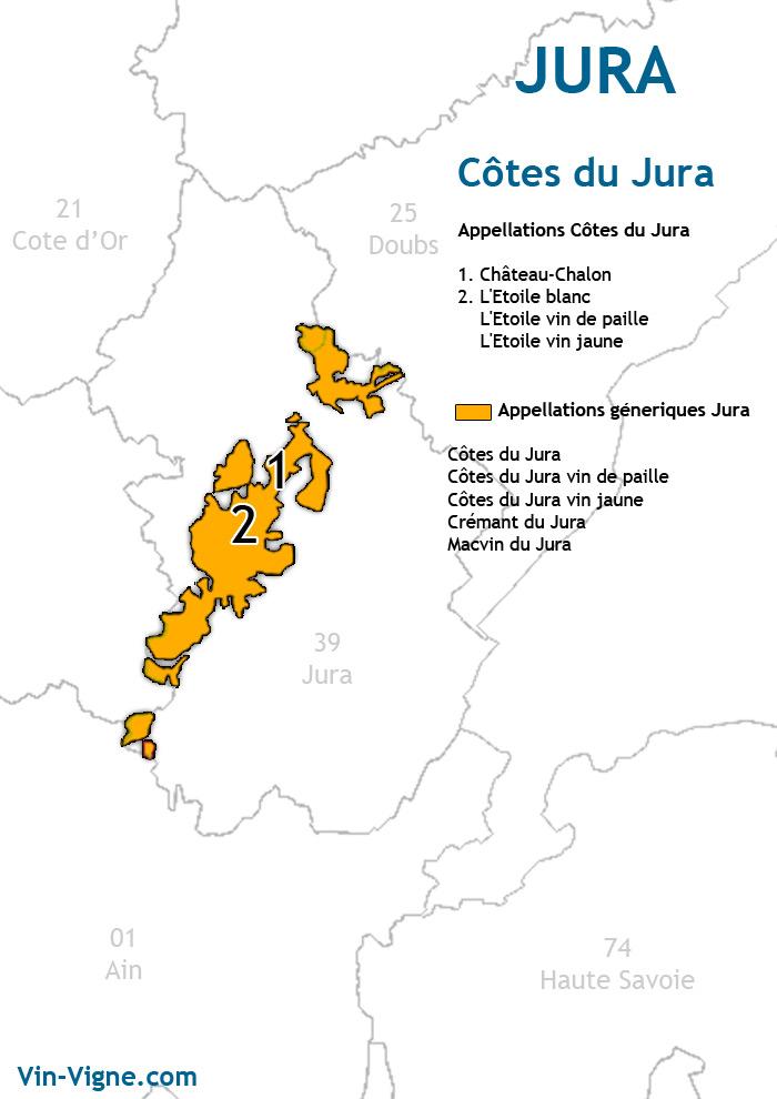 carte des vins des côte du jura