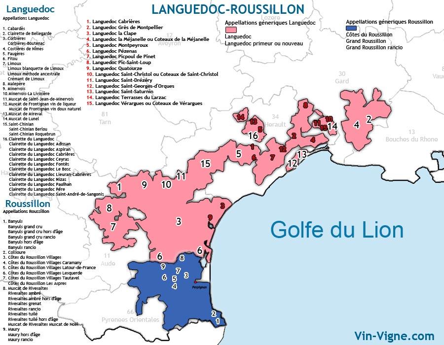 carte des vins du languedoc_roussillon