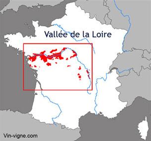 Carte viticole du vignoble de la Loire