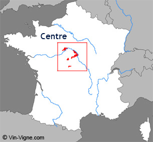 Carte de la région viticole du Centre