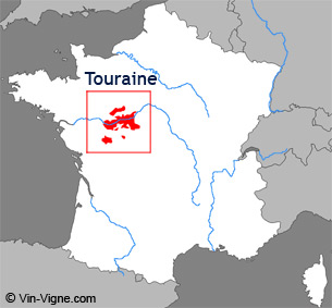 Carte de la région viticole de Touraine