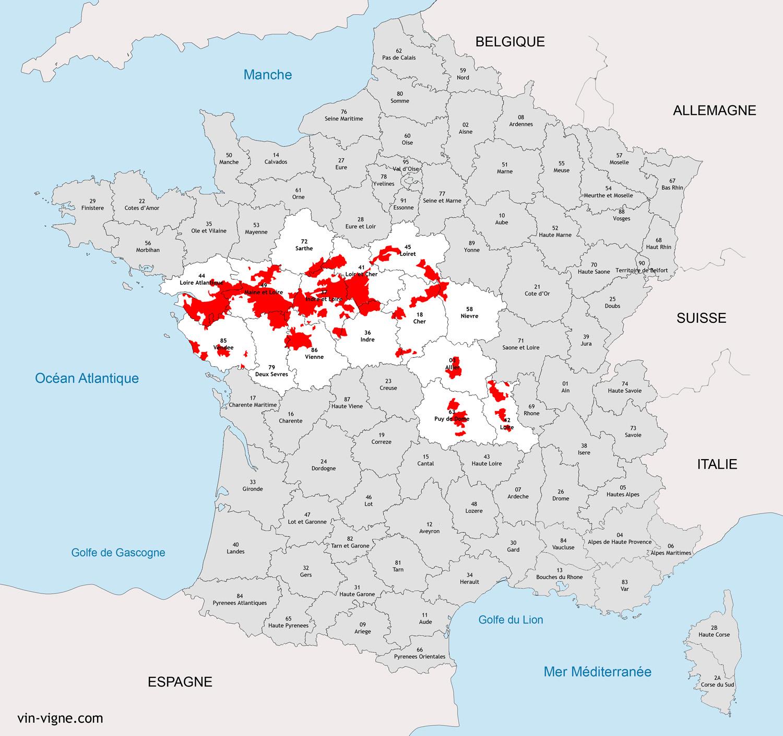 Connu VIGNOBLE DE LA LOIRE : Vins de la Loire - Vin-Vigne.com PO61