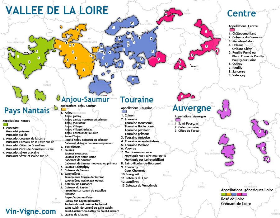 carte des vins Loire
